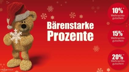 Mailing Weihnachten – Bärenstarke Prozente