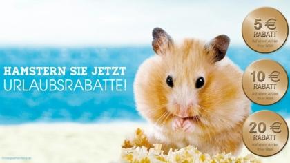 Mailing mit Hamster – Urlaubspreise im Sommer