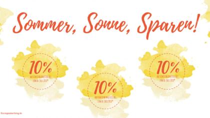 Mailing Sommer, Sonne, Sparen!