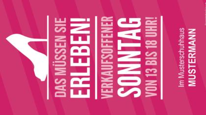 Mailing -Verkaufsoffener Sonntag-pink