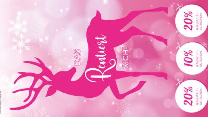 Mailing – Das Rentiert sich – winterliches rosa