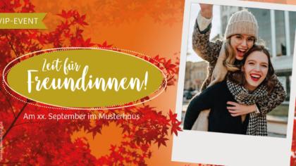 Mailing – Herbst – Zeit für Freundinnen