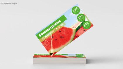 Werbeaktion Sommerpreise melonenfrisch