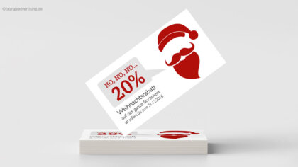 Ho Ho Ho…jetzt Prozente abholen